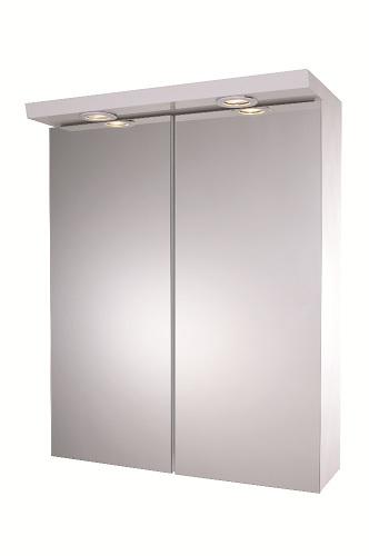 Croydex alaska illuminated double mirrored wall cabinet ebay - Wall mounted mirrored bathroom cabinet ...